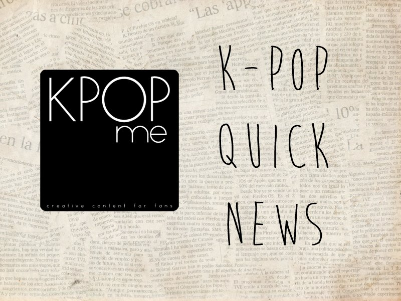 k pop quick news august september
